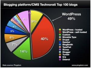 Wordpress blogging platform is the SEO and Social Media technology of choice for developers